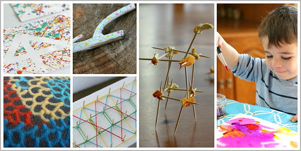 Cool Art Projects for Kids from Buggy and Buddy