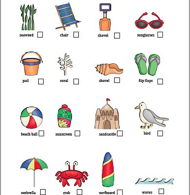 Beach Scavenger Hunt (Free Printable)