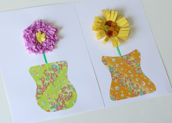 Unique Paper Vase And Flower Craft For Kids
