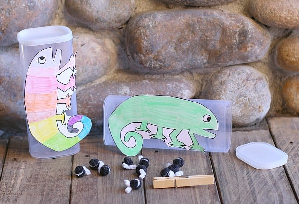 Fine Motor and Counting Game for The Mixed Up Chameleon