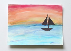Art for Kids: Ocean Scenes Using Chalk and Tempera Paint