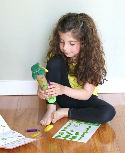 enjoying creating rainstick from Kiwi Crate