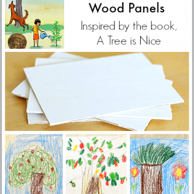 Art for Kids: Sketching Trees on Wooden Panels