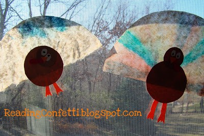 Thanksgiving Window Art for Kids