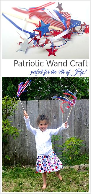 Patriotic Wands for Kids to Make