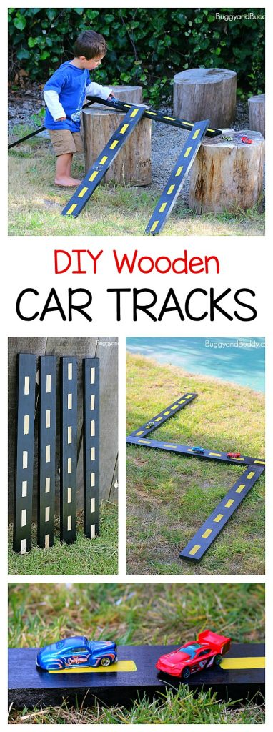 DIY Wooden Tracks, Roads, and Ramps for Toy Cars