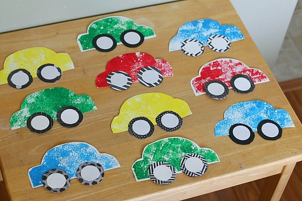 Sponge Painted Car Craft for Kids~ Buggy and Buddy