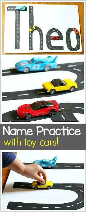Name Practice Activity Using Toy Cars Buggy And Buddy