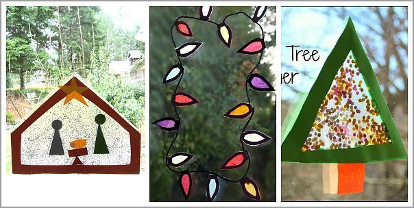 Christmas Window Art for Kids