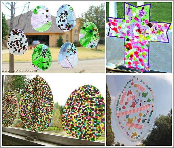 Easter Themed Window Art for Kids