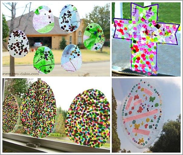 Easter Themed Window Art for Kids