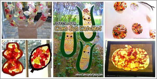 Fall Window Art for Kids