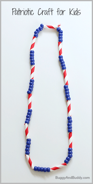 4th Of July Craft For Kids Patriotic Necklace Buggy And Buddy