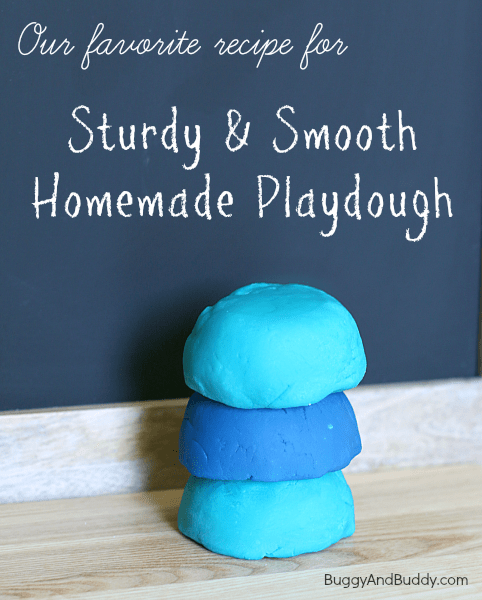 Sturdy & Smooth Playdough Recipe~ Buggy and Buddy