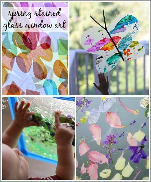 Spring Window Art for Kids
