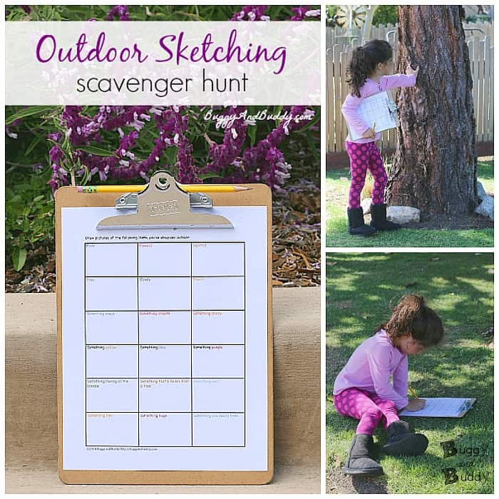 free printable outdoor scavenger hunt for kids