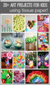 20+ Tissue Paper Crafts for Kids