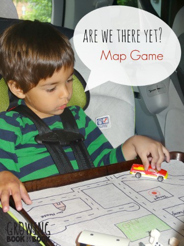 Are we there yet? Map Game for Kids