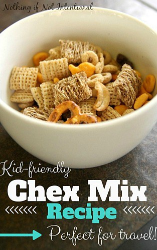 Kid-friendly Chex Mix- Perfect for Travel