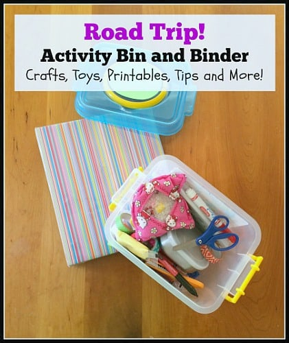 Road Trip Activity Bin and Binder