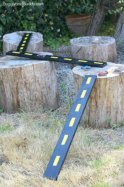 DIY Wooden Roads and Ramps for Toy Cars~ BuggyandBuddy.com