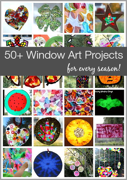 50 Window Art Projects For Every Season And Holiday Sun Catcher Crafts Using Tissue