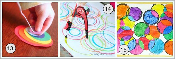 art for kids using circles