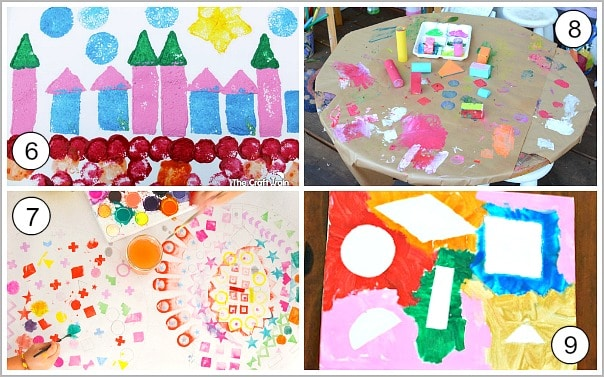 art for kids using shapes