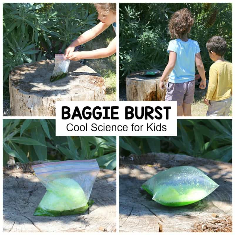 Cool Science for Kids: Baggie Burst- Science activity for kids using baking soda and vinegar!