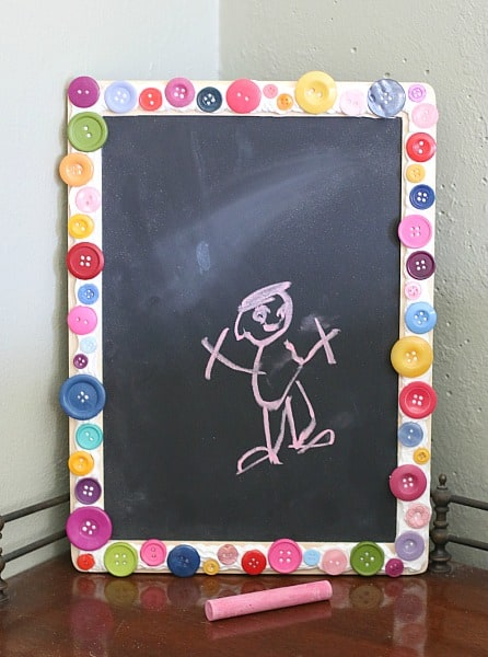Homemade Chalkboard Frame Using Mod Podge Collage Clay