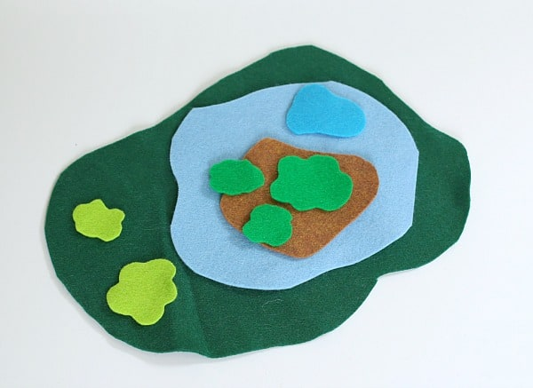 cut felt to encourage imaginative play
