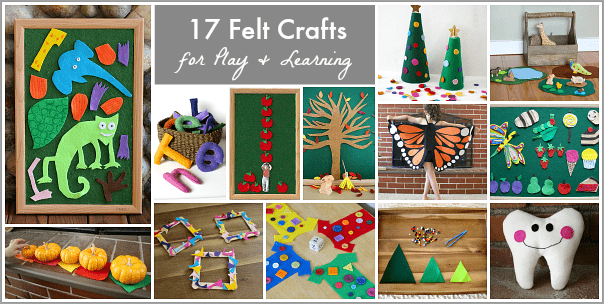 17 Felt Craft Projects for Play and Learning from Buggy and Buddy