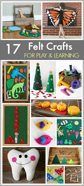 17 DIY Felt Crafts to Make: Felt Toy and Activity Tutorials- most are no-sew and make great homemade gifts or keepsakes too! ~ BuggyandBuddy.com