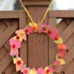Fall Crafts for Kids: Tear Art Fall Wreath