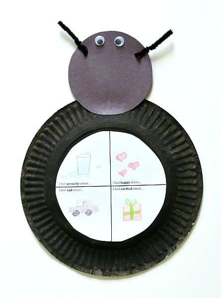 glue the head and printable to the ladybug body
