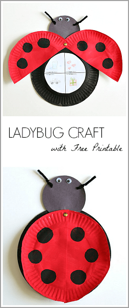 Paper Plate Ladybug Craft Inspired by Eric Carle's The Grouch Ladybug (with FREE printable)~ Buggy and Buddy
