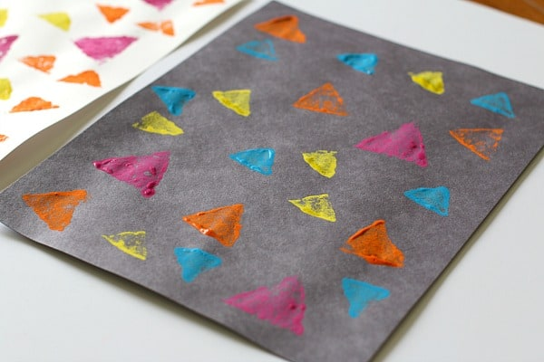 triangle collage art for kids