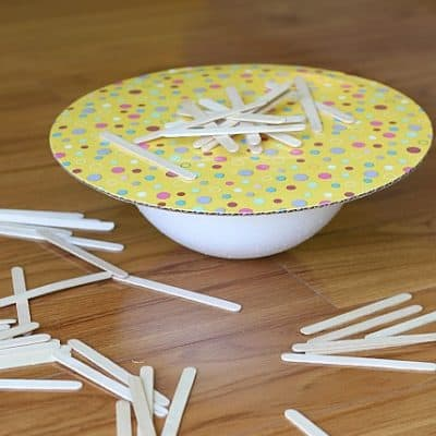 Balancing Activities for Kids: Balance the Popsicle Sticks