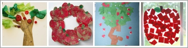 cute apple crafts for kids