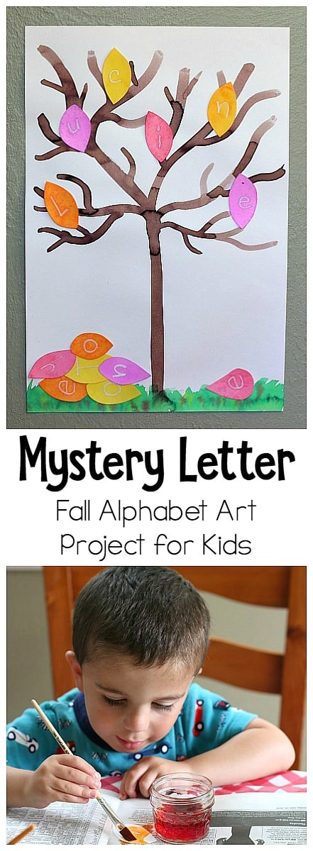 Mystery Letter Fall Tree Alphabet Art Project