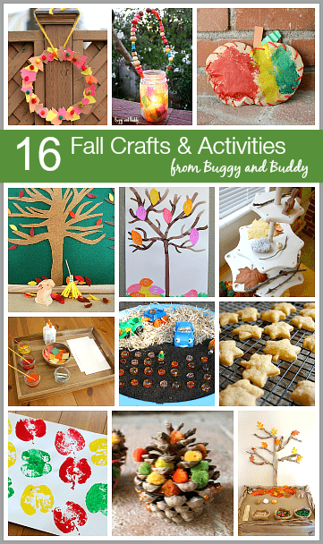 Our 16 Top Fall Crafts & Activities for Kids~ buggyandbuddy.com