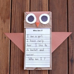 Who's Who? Owl Craft for Kids
