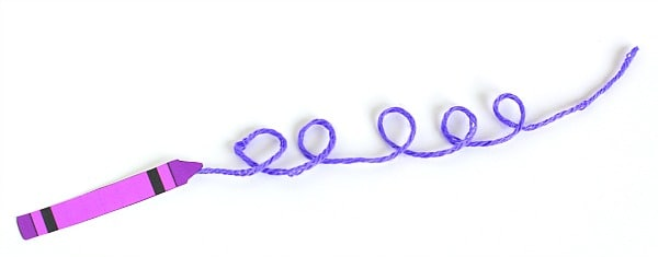 Purple Yarn Art Inspired by Harold and the Purple Crayon