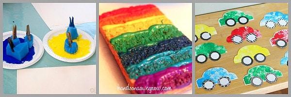 art for kids using sponges