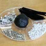 Black and White Halloween Playdough Activity