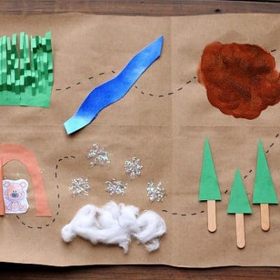 We're Going on a Bear Hunt Map & Binoculars (with FREE Printable)