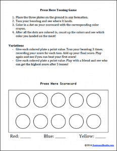 Parent Letter to go with the Press Here Math Game~ BuggyandBuddy.com