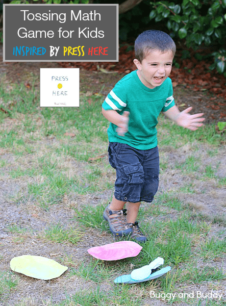 Math Game for Kids Inspired by Press Here (with FREE printables)! ~BuggyandBuddy.com