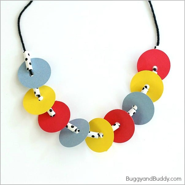 necklace craft for kids inspired by press here buggy and