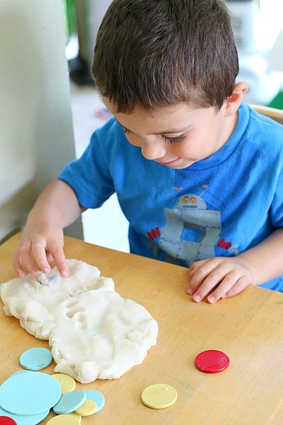 Press Here Playdough Activity for Kids